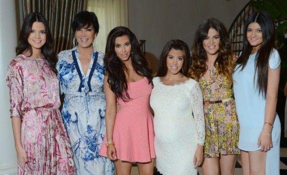 Kim, Kourtney and Khloe Kardashian and Kris, Kendall and Kylie Jenner at Kourtney's Baby Shower