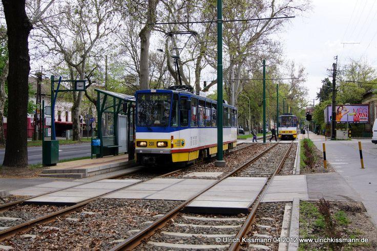 201 Szeged Kecskeméti utca 20.04.2012 - (ČKD) Tatra KT4D - ex-219403-4 / BVB Ost Berlin, ex-045 / ViP Potsdam, ex-121III / ViP Potsdam
