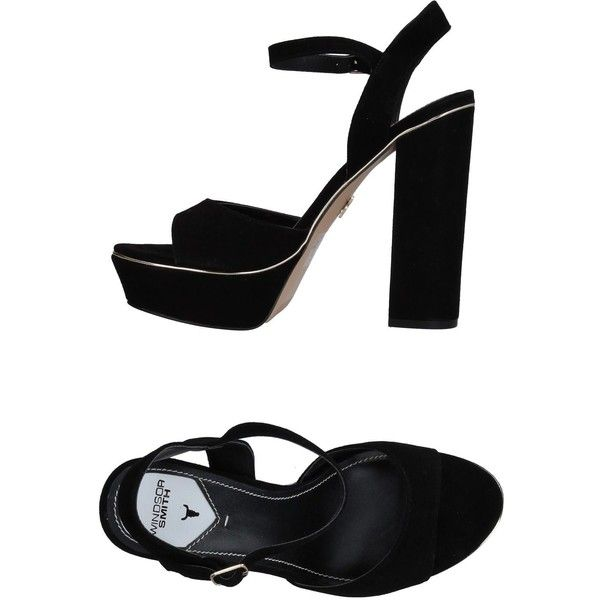 Windsor Smith Sandals (805 NOK) ❤ liked on Polyvore featuring shoes, sandals, black, black rubber sole shoes, rubber sole sandals, buckle shoes, round cap and rubber sole shoes