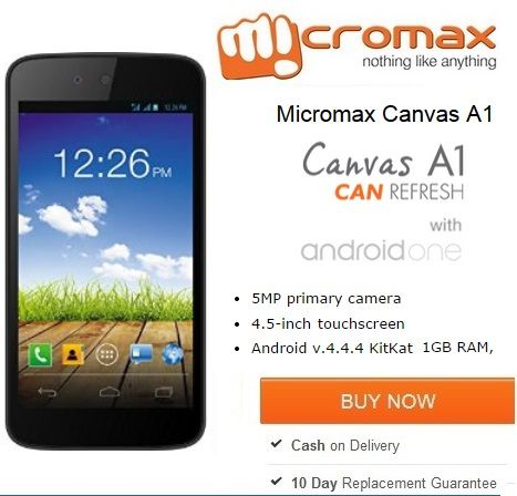 Buy #Micromax #Canvas A1 #Android #One http://www.couponpedia.in/buy-micromax-canvas-a1-online-micromax-android-one-phone-shopping/