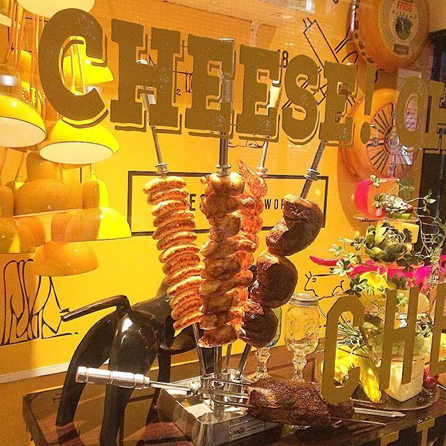 チーズ❌お肉‼️ 昼から食べ放題#grillchurrasco #ブラジル #osaka #umeda  #chayamachi #grill #茶屋町 #梅田  #肉美人 #肉  #シュラスコ  #食べ放題 #バイキング #美人 #ランチ #お誕生日  #女子会  #チーズ  #churrasco #Carnes #Almoco #Janta #Gostoso  #cheese