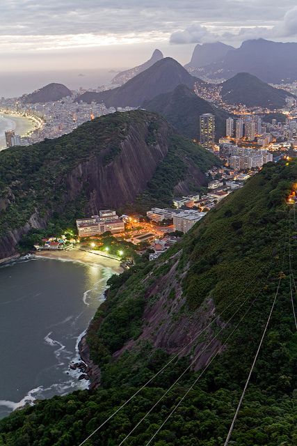 Rio de Janeiro view from Sugarloaf Mountain, Brazil (by Porter Yates).