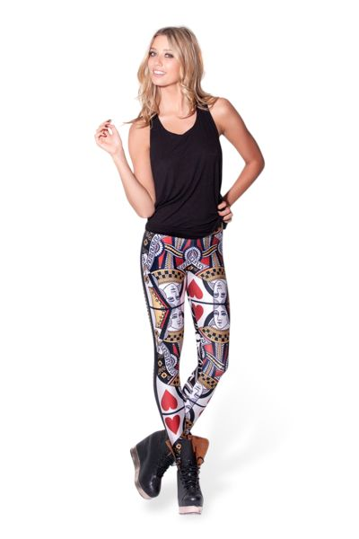 Queen of Hearts Leggings › Black Milk Clothing XL Bought on BM WW
