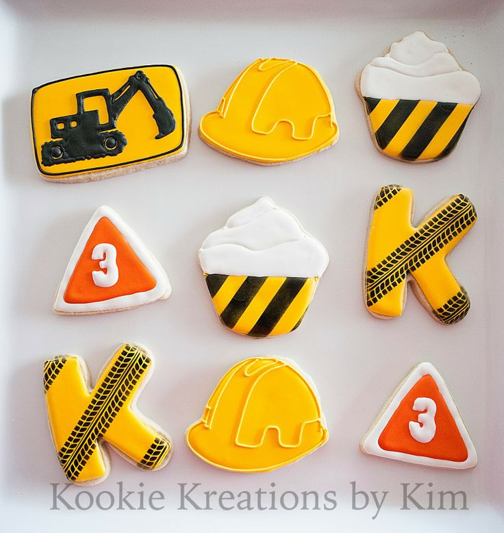 Construction cookies - Kookie Kreations by Kim