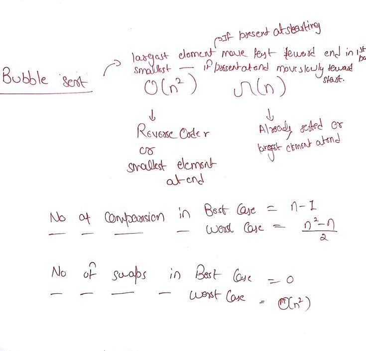 Bubble sort comparison