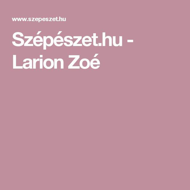 Szépészet.hu - Larion Zoé