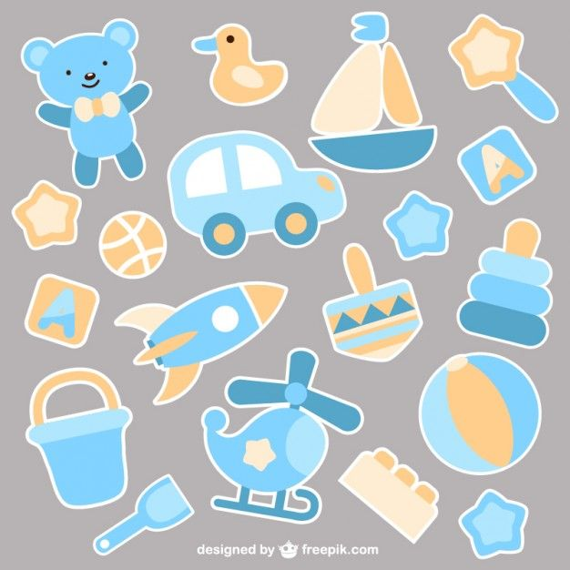 Free vector Baby boy toys #4247
