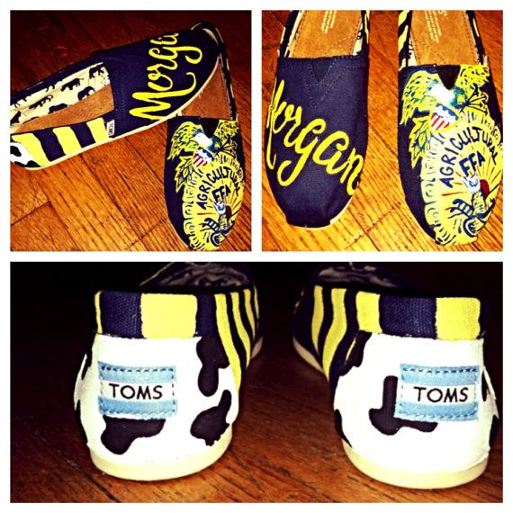 FFA custom toms by FrancesBowtique on Etsy