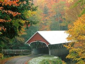 I've always wanted to go see the covered bridges of the east coast, preferably in the fall when the trees are glorious. However, I heard many of them were washed away/destroyed in the bad flooding this year. Very sad indeed.