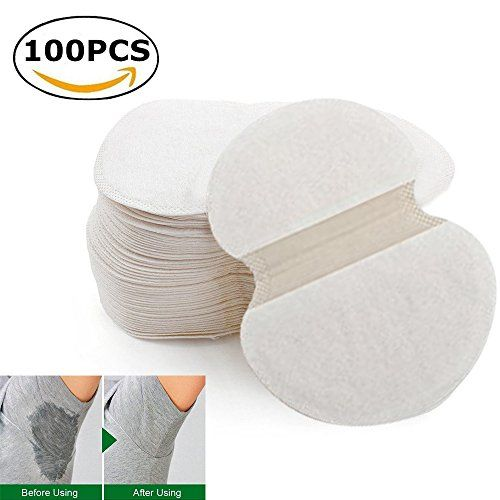 Underarm Armpit Sweat Pads Shield Absorbing Disposable Dress NEW- Invisible Protection Against Armpit Sweat Stains (100pcs)  Underarm absorbing sweat deodorant pads.  Light weight; portable and hygienic.  Ultra thin;Keeps you dry all day long.  Strong adhesive to your clothes.  Suitable for men and women and children.