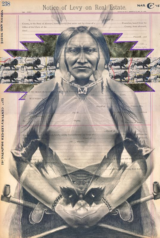 Vision and Voice by Chris Pappan (Kaw/Osage/Cheyenne River