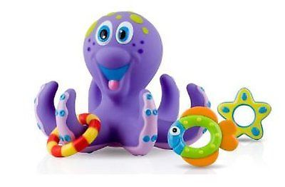 Kids Bath Time Toy Purple Octopus Ring Toss Toddler Cute Gift Birthday Present