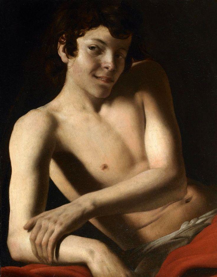 Giovanni Battista Caracciolo (Il Battistello), Half-Length Figure of a Young Man, c. 1610