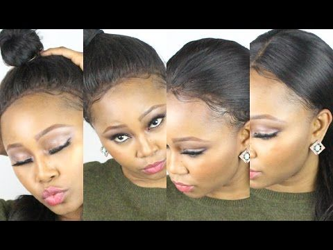 Most Natural Looking Customised Lace Front Ever Wig : Part 2 14+ Hairstyles. NO GLUE! NO SEW! - YouTube