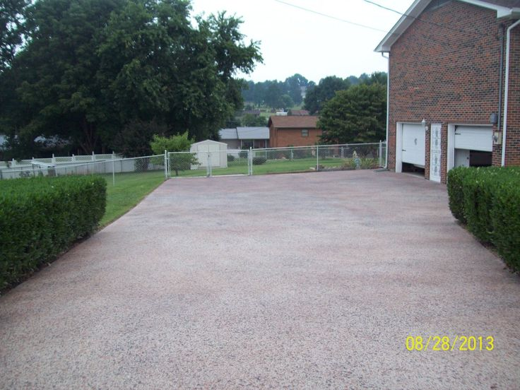 Decorative Concrete Pebble Look Driveway Resurfacing in Seymour, Tennessee.