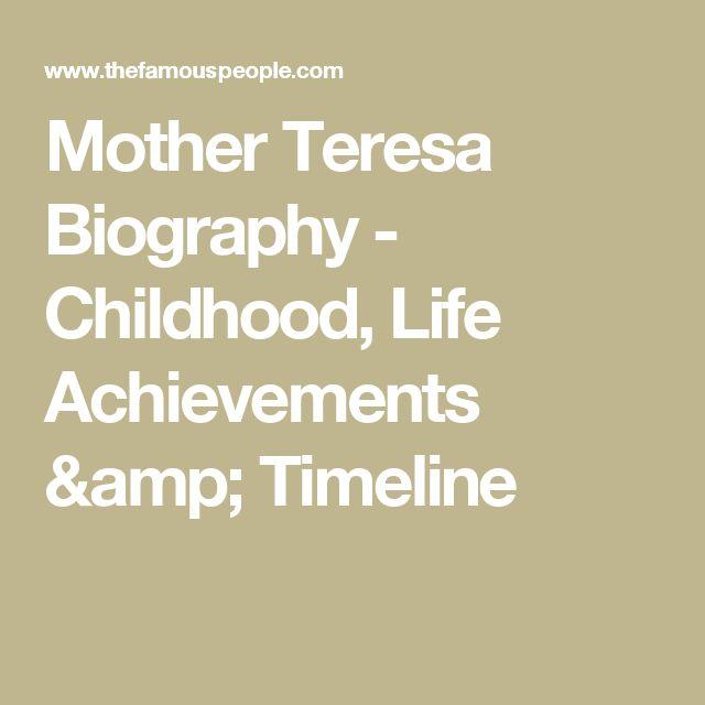 Mother Teresa Biography - Childhood, Life Achievements & Timeline