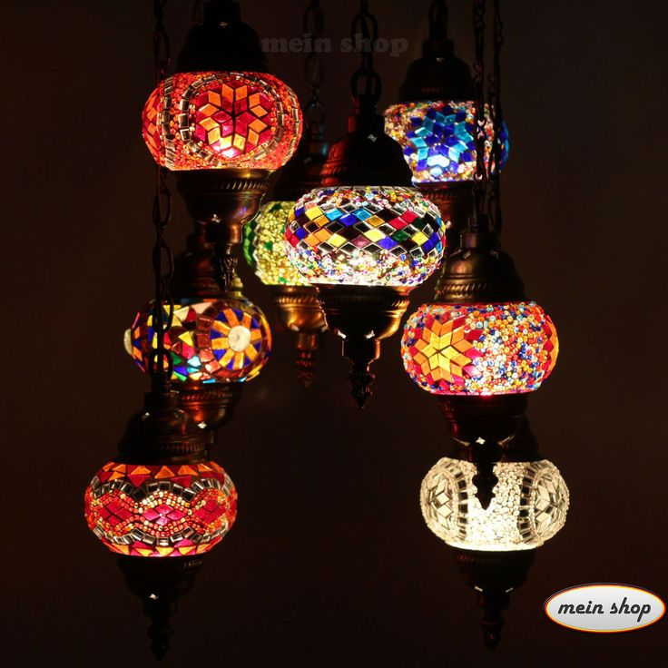 Details Zu Mosaik Lampe Deckenlampe Orientalische Lampe Türkei Mosaik 8  Large Lampen
