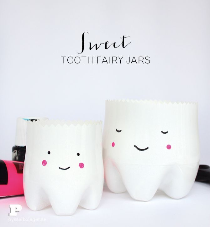 DIY Tooth Fairy Jars Tutorial by pysselbolaget
