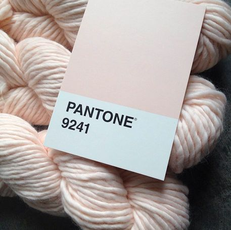Yarn for my next scarf! Yummy Super Soft Merino yarn from PurlSoho.com in Ballet Pink, also known as Pantone 9241. take2theyresmall.com