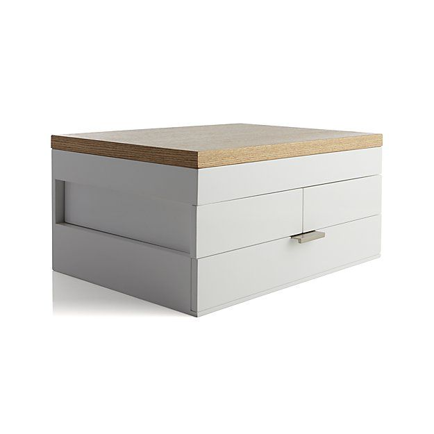 Selma White Jewelry Box | Crate and Barrel