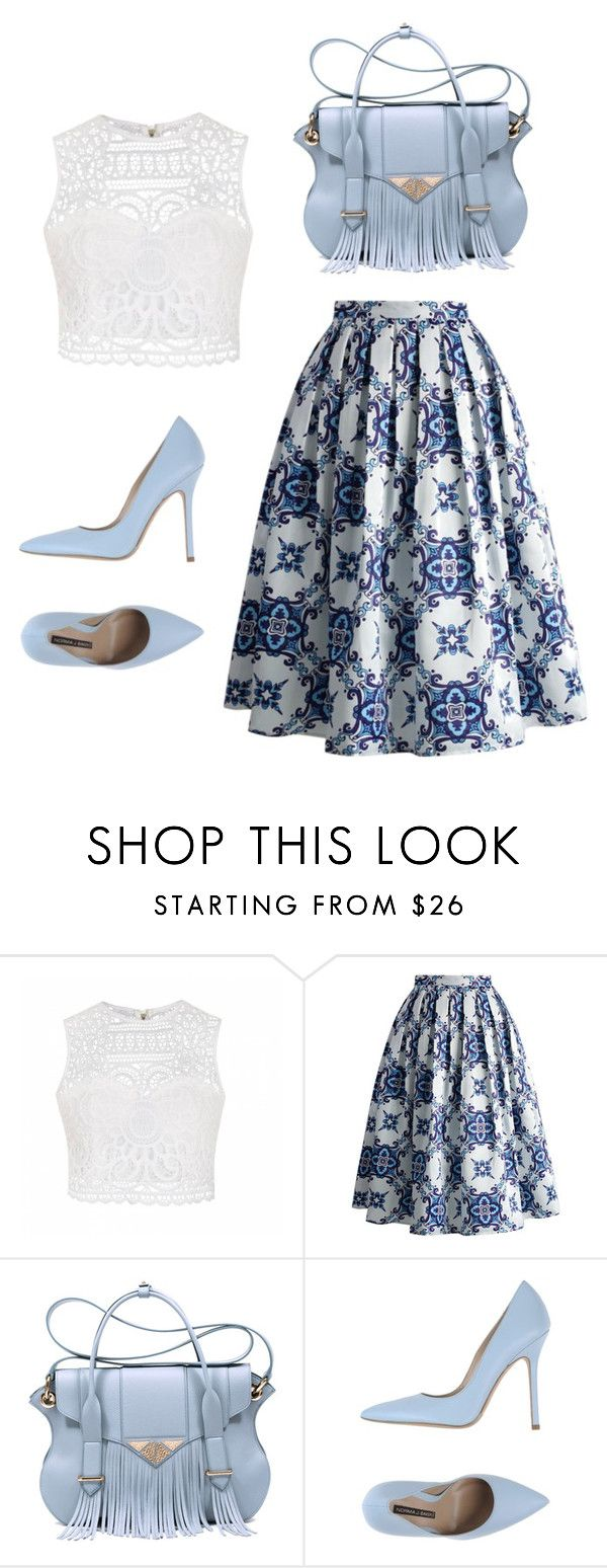 """""""Beautiful blue"""" by alexiswagner12 ❤ liked on Polyvore featuring beauty, Ally Fashion, Chicwish, Ella Rabener and Norma J.Baker"""