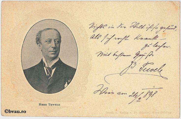 """Berr Tewcle, Viena, 1898. Imagine din colecțiile Bibliotecii """"V.A. Urechia"""" Galați."""