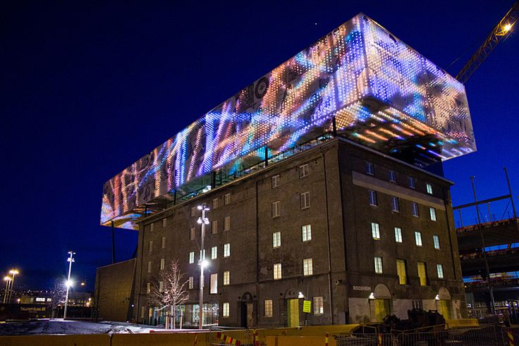 Generative video for LED media facade of Rockheim