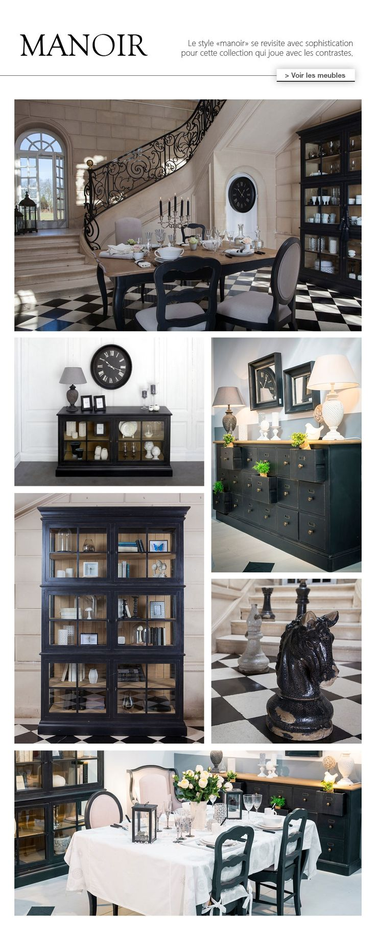 meuble patin noir au style bourgeois collection manoir interior 39 s meubles brocante. Black Bedroom Furniture Sets. Home Design Ideas