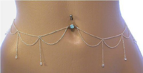 Belly Button Ring Navel Body Jewelry Dangle Waist Chain