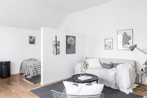 Studio apartment via Alvhem gravityhomeblog.com - instagram -...