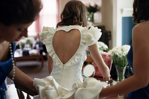 This would be so pretty if it were laceWedding Dressses, Fashion, Cutout, Heart, Style, The Dresses, Cut Out, Open Back, Ruffles