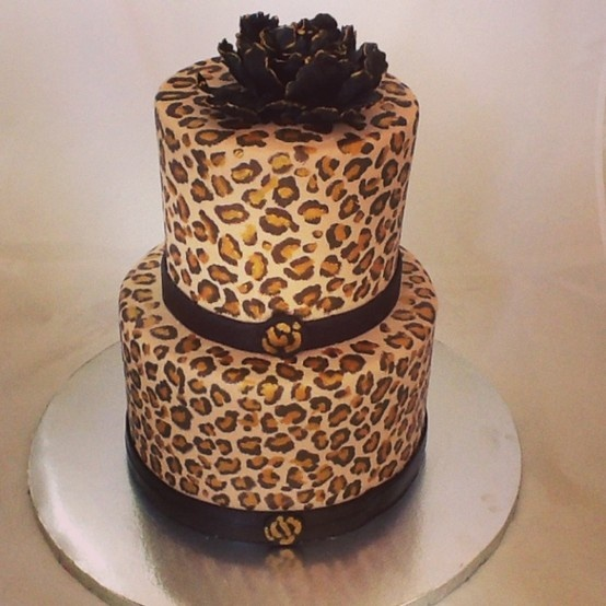 The End Dessert Company cheetah print cake. Cheetah print on the inside, too:)
