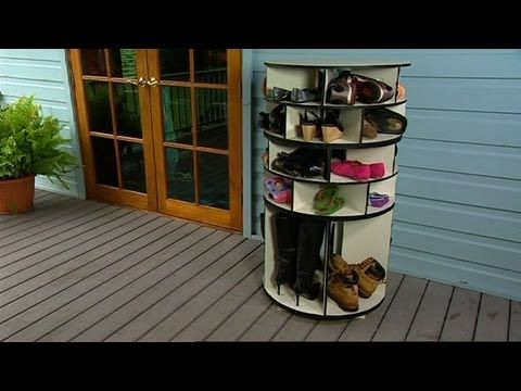 How To Make a Lazy Susan Shoe Storage - Our Home Sweet Home