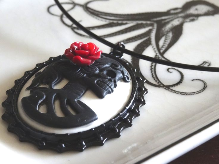 Skeleton Choker Gothic Style Day of the Dead Lolita Female Skeleton Choker Necklace PeculiarCollective by PeculiarCollective on Etsy