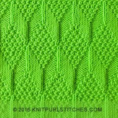 June 2016, KnitPurlStitches.com will share with you a new stitch. It's called a Moss Diamond and Lozenge. The stitch pattern is reversible and looks the same on either side. A nice pattern for making baby blanket. (written instructions + chart)