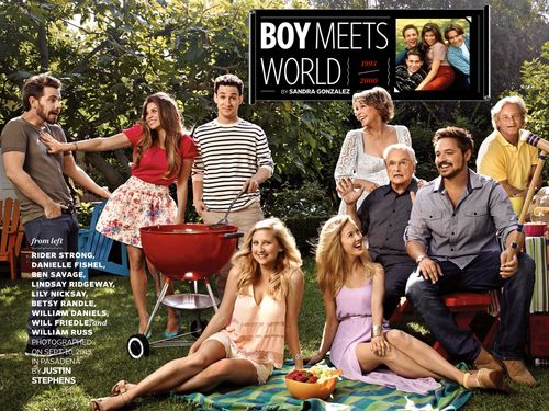 Boy Meets World cast for EW's Reunion Issue