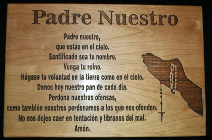 Padre Nuestro - The Lord's Prayer in Spanish Cutting Board, Personalized Cutting Board, Prayer Cutting Board by TopChopButcherBlock on Etsy