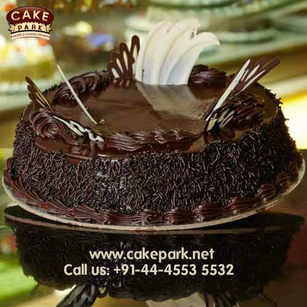For a chocolate lover… Rich chocolate sponge layers filled with cherry cream and chocolate truffle #Freshcreamcakes #Birthdaycakes #Ordercakesonlinechennai For more: http://www.cakepark.net/choco-fudge-rfccf.html Call us: +91-44-4553 5532