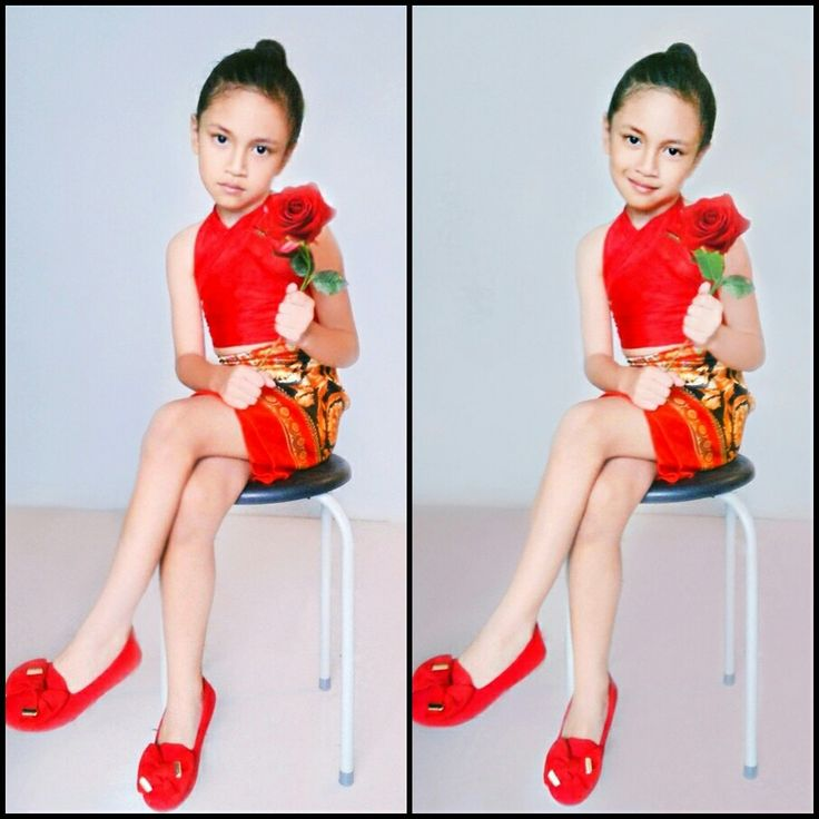 cleo arnoya in red dress