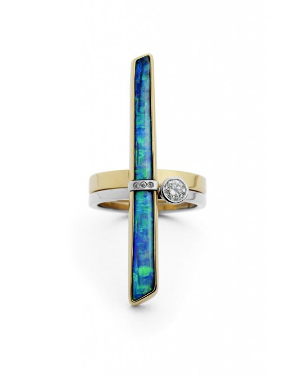 Beautiful opal ring : David Fowkes Jewellery #opalsaustralia