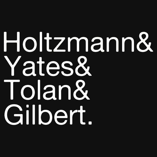 Ghostbusters names: Holtzmann Yates Tolan Gilbert