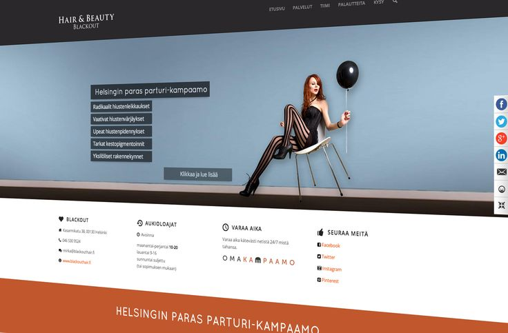 WOW!!! Our new website www.blackouthair.fi #hairdresser