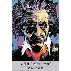 Garibaldi - Einstein Poster: Canvas Prints, Picture-Black Posters, Posters Prints, Art Prints, Art Posters, Albert Einstein, David Garibaldi, Products
