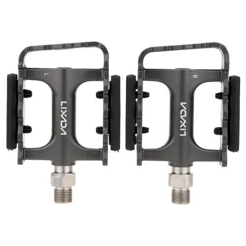 2Pcs LIXADA MTB Folding Bicycle Aluminum DU Bearing Platform Pedals 9/16