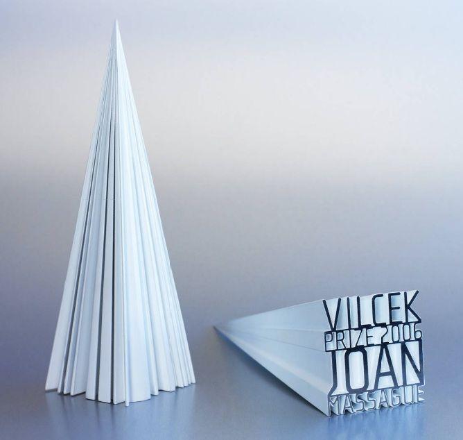 Beautifully designed award by Sagmeister