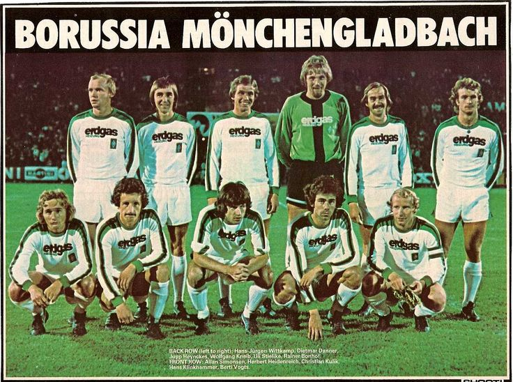 Oft overlooked due to the European success of Bayern, Moenchengladbach dominated the mid-70s in the Bundesliga with attacking, Dutch-style total football.