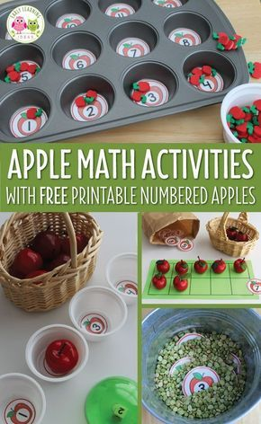 7 Apple Themed Math Ideas For Kids This Article Includes Free Numbered Circles And Many To Us Them Great Preschool Pre K Kindergarten