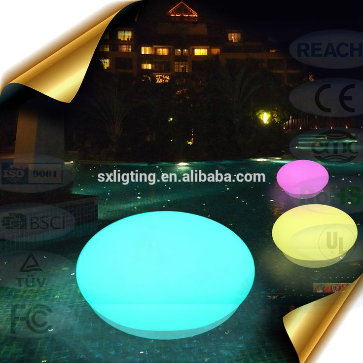 LED Swimming Pool Oval Balls / Light Up Floating Ball for Swimming Pool