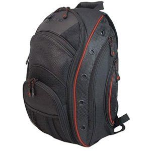 Mobile Edge EVO Backpack- 16-Inch PC/17-Inch MacBook Pro (Black/Red)