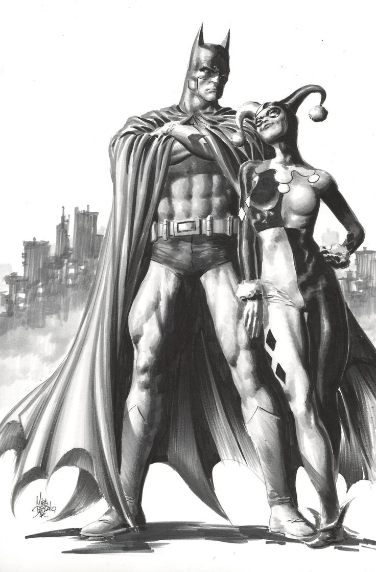 Batman & Harley Quinn by Mike Deodato, Jr.